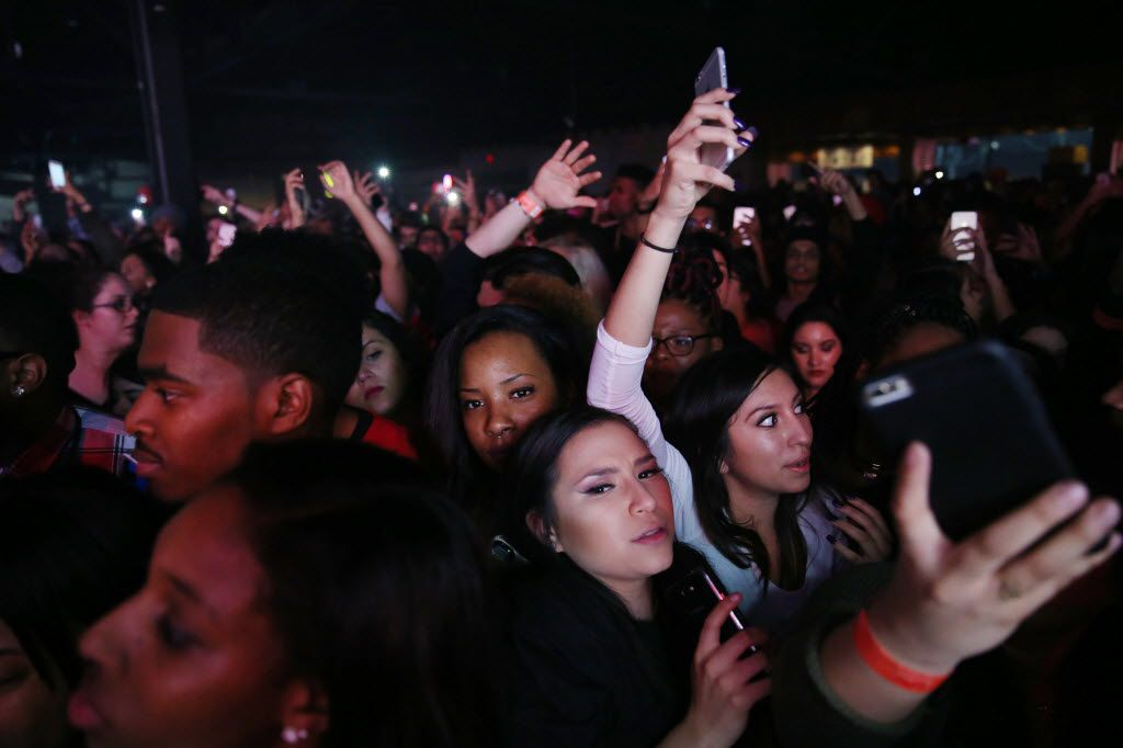 Fans watch while Future performs at the South Side Ballroom in Dallas Friday March 11, 2016. (Andy Jacobsohn/The Dallas Morning News)