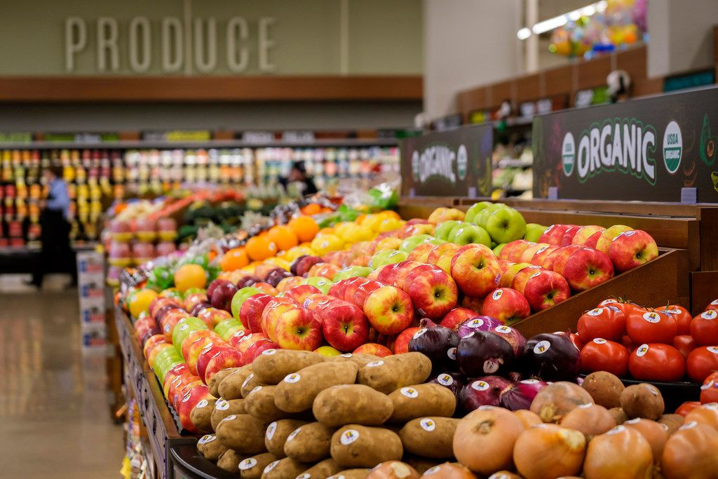 Fresh produce at the new Tom Thumb at the Union on Wednesday, April 10, 2019, in Dallas. (Smiley N. Pool/The Dallas Morning News)