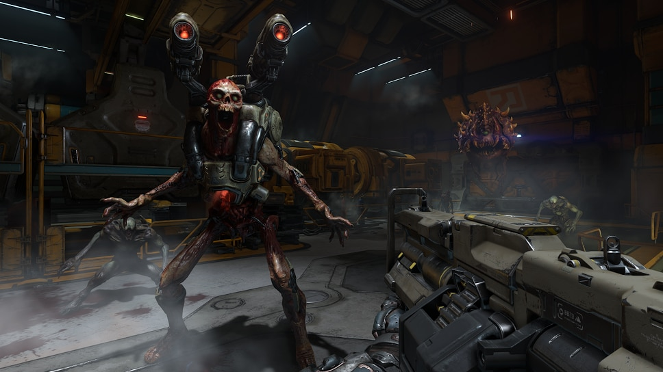 An image from Doom's single-player, which is not its multiplayer, but it will hopefully be good too.