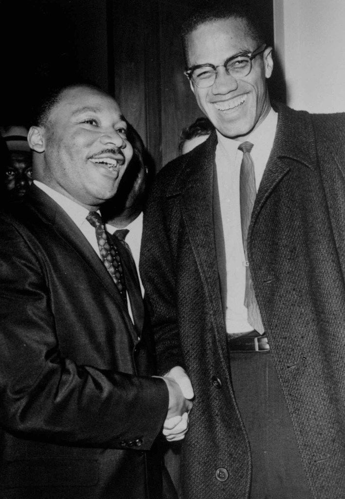 Dr. Martin Luther King Jr. and Malcolm X met only once and only briefly. (AP Photo/Henry Griffin)
