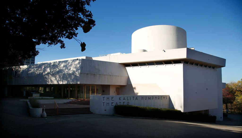 The front side of The Kalita Humphreys Theater in Dallas