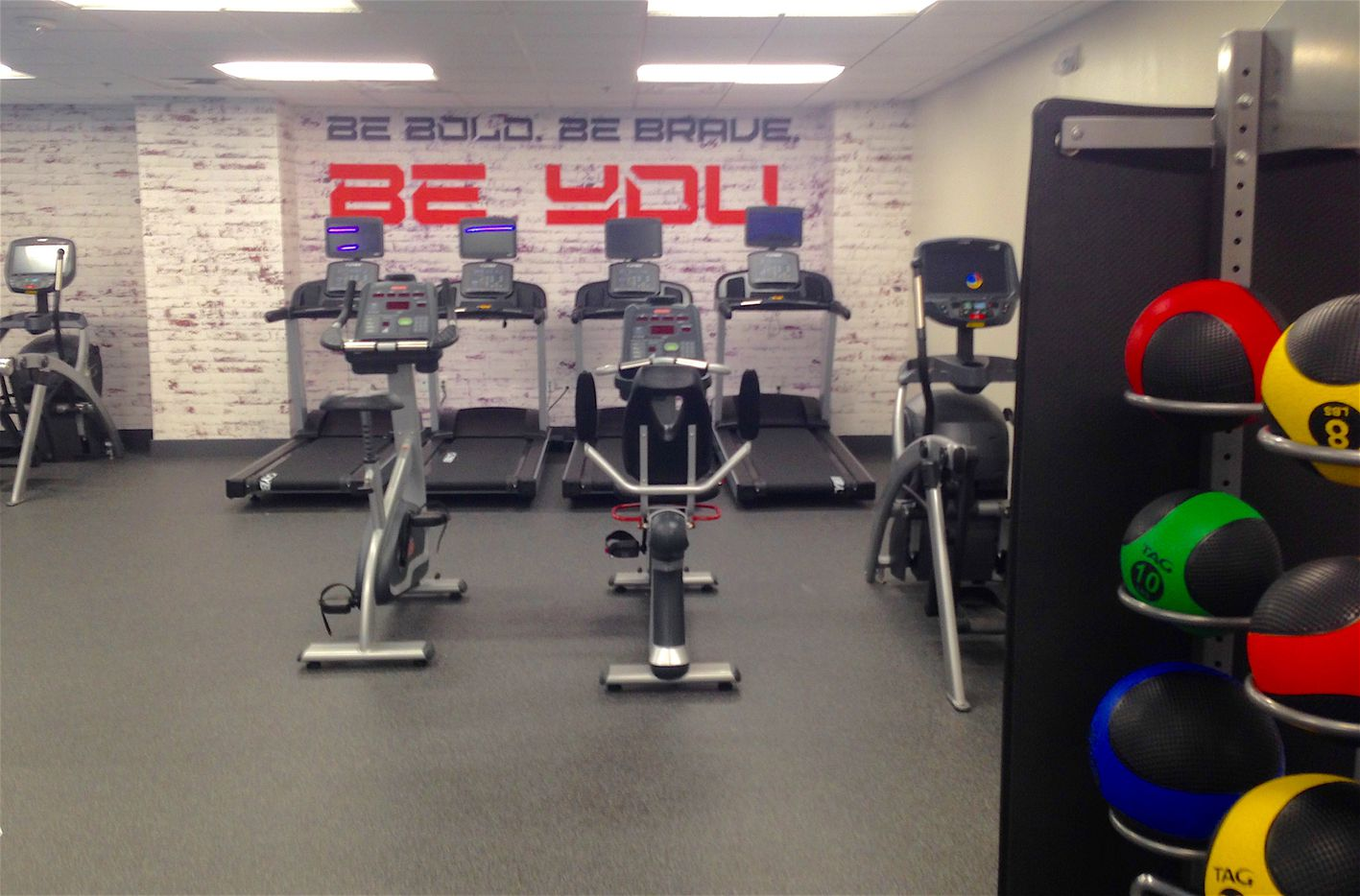 The new fitness center at the Manor House in downtown Dallas.