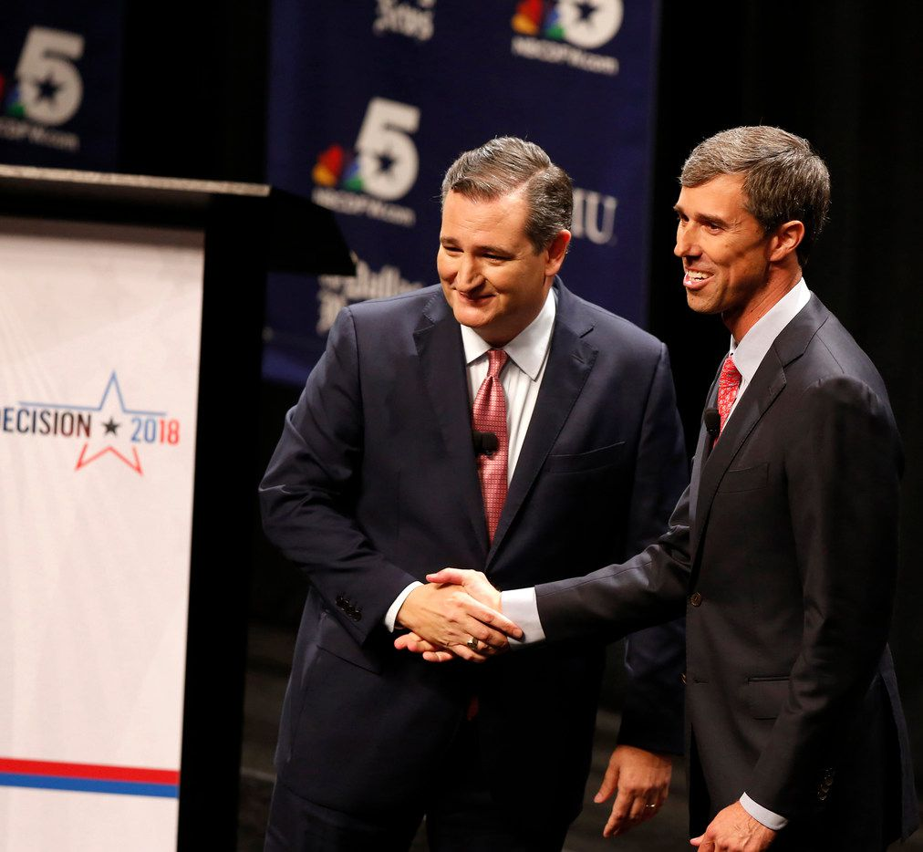 Sen. Ted Cruz (left) nd Rep. Beto O'Rourke  have both raised massive amounts of money to fund their battle for the U.S. Senat