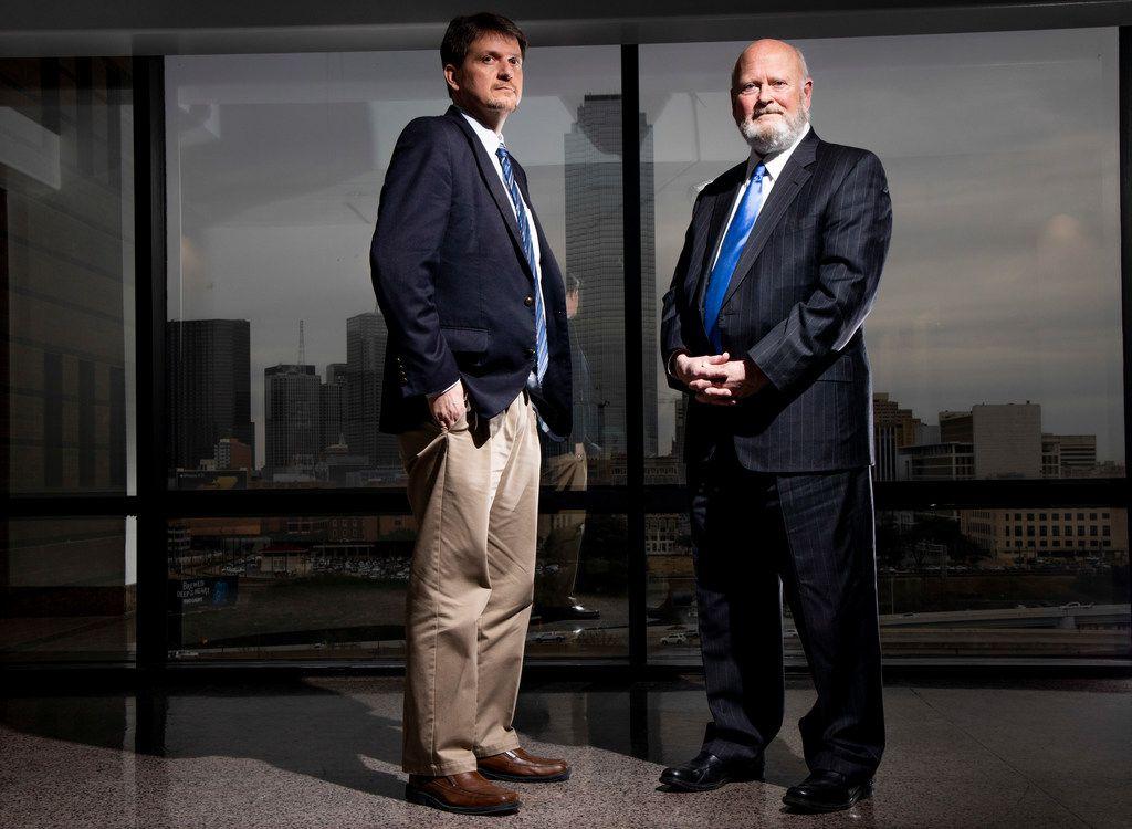 Investigator Jimmy Spurger (left) and attorney Brad Lollar