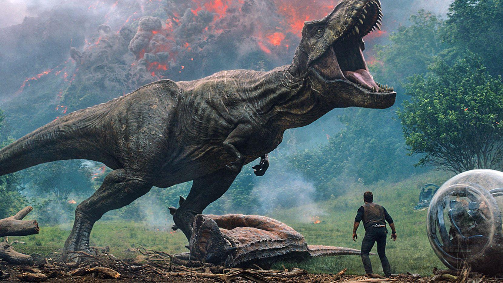 """Imagen de la nueva cinta """"Jurassic World: Fallen Kingdom"""", que debuta este fin de semana en Estados Unidos.(AP)"""