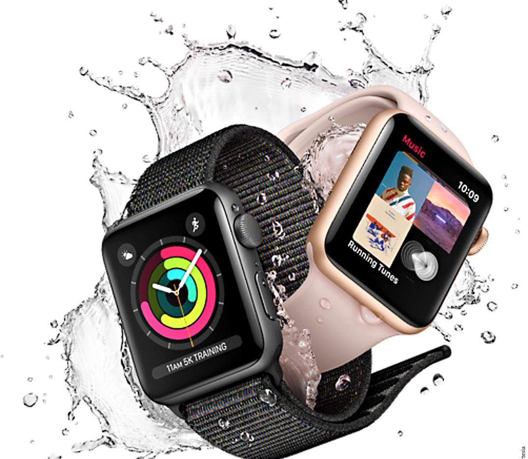 En agua dulce o en agua salada, el Apple Watch Series 3 medirá tus movimientos en hasta 50 de profundidad. Eso sí, no es apto para buceo o actividades que impliquen contacto con el agua a alta velocidad, como el esquí acuático. APPLE WATCH