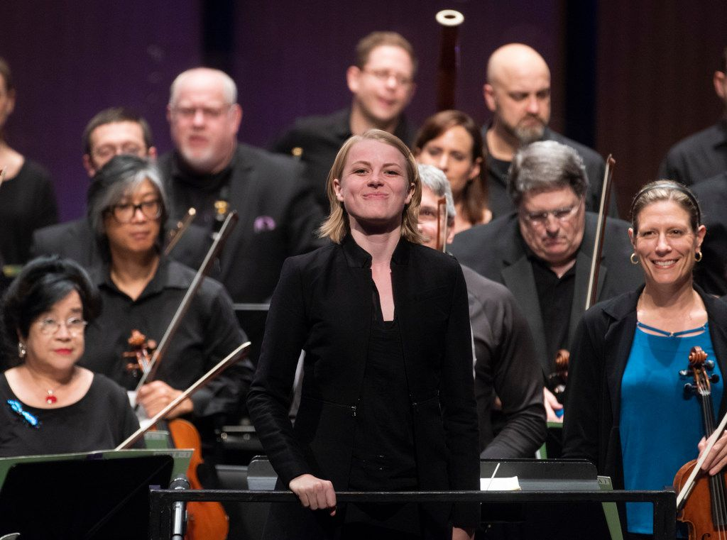 Former Dallas Symphony assistant conductor Ruth Reinhardt will lead the June concert to benefit the orchestra's newly created Hardship Fund.