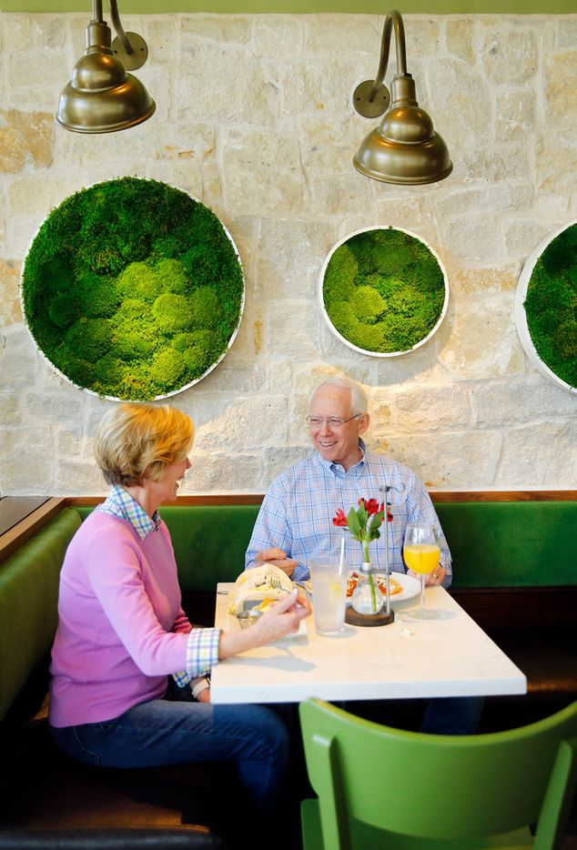 Jeanne Edwards and her husband of 47 years Richard Edwards of Dallas have brunch at Bellagreen on Walnut Hill Lane in Dallas, Sunday, April 28, 2019.