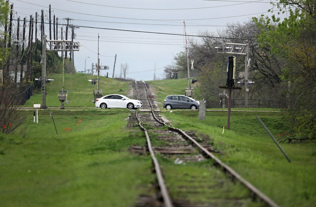 A look at the Coit Road intersection where it intersects with the Cotton Belt railroad crossing near Coit Road in north Dallas, photographed on Wednesday, March 28, 2018.  (Louis DeLuca/The Dallas Morning News)