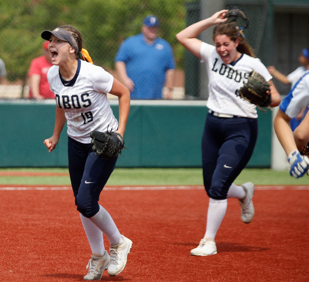 Little Elm's Lauren Lucas (left) leads the Dallas area in batting average and RBIs and is tied for third in home runs. (Stewart F. House/Special Contributor)