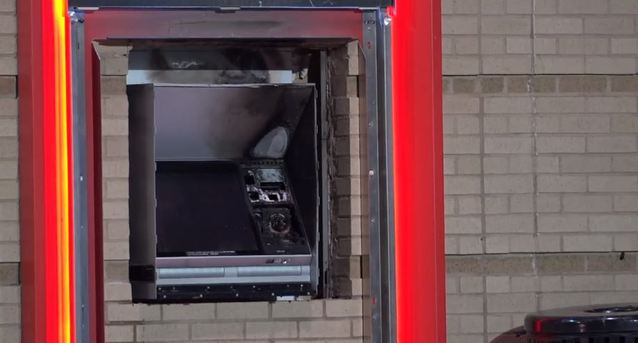 An ATM was damaged in a fire that police believe was intentionally set Wednesday morning in Old East Dallas.