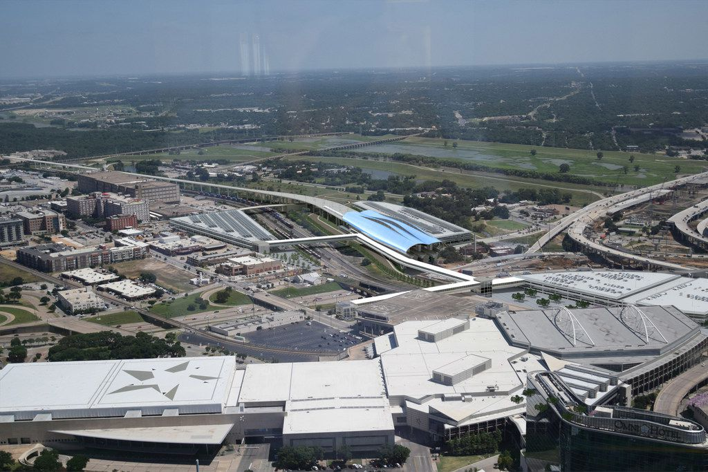 Texas Central Partners on Monday released renderings and a location for the proposed high speed passenger rail station in downtown Dallas. The depot will provide 90-minute service from Dallas to Houston.