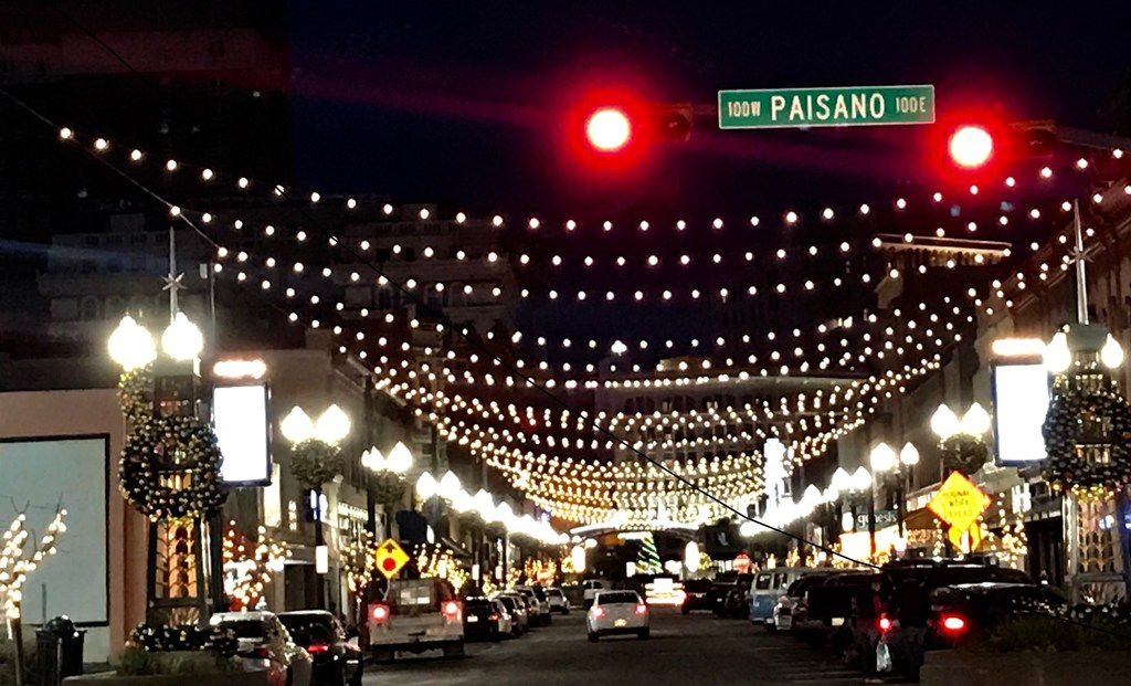 Christmas decorations in El Paso in the weeks before December 25, 2018. President Donald Trump's border wall and immigration policies have created a stir in the city, but El Pasoans say nothing can weaken their ties to Ciudad Juarez, their sister city across the river in Mexico.