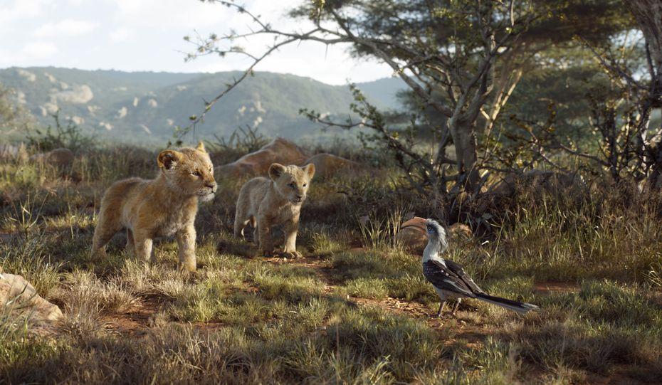 """Una escena de la nueva película de Disney, """"The Lion King"""" o El Rey León."""