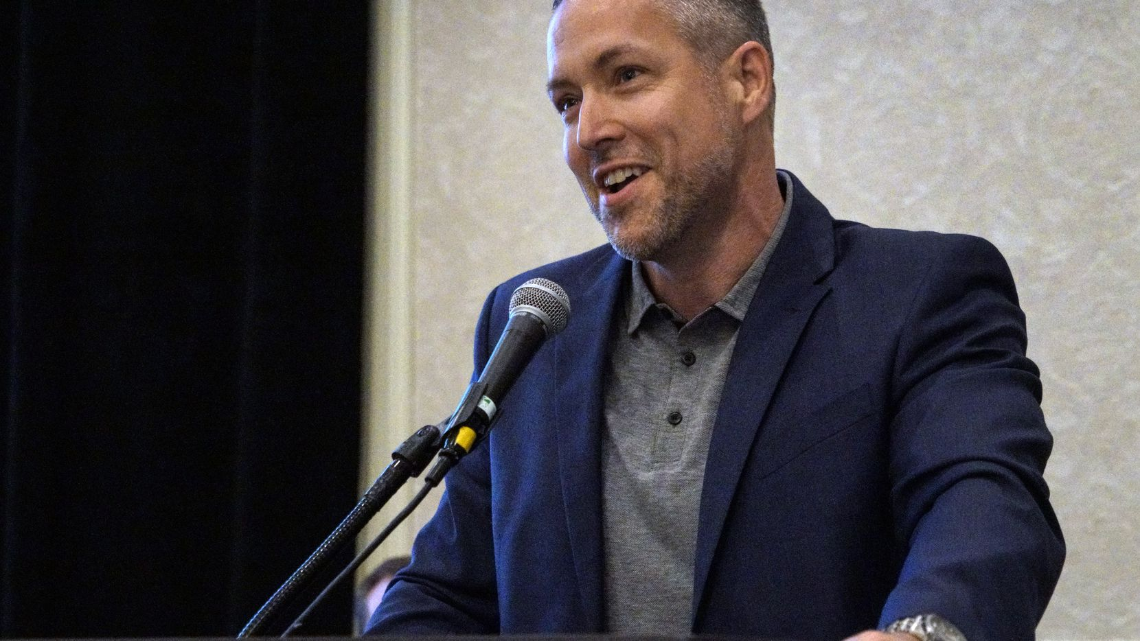 J.D. Greear, photographed Sunday at the Southern Baptist Convention's annual meeting in Dallas, has been elected president of the denomination.