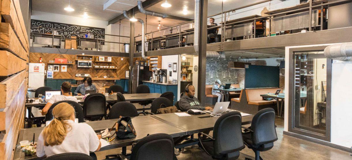 Common Desk's 4-year-old Oak Cliff office is on Davis Street.
