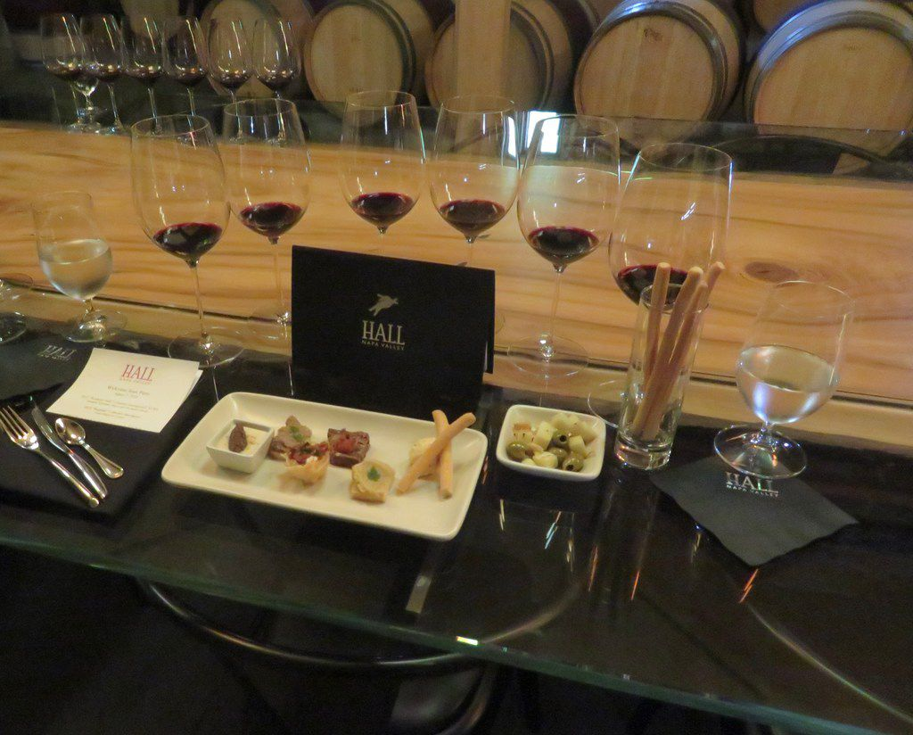 Hall Wines'  Platinum Experience is its most exclusive wine tasting at its St. Helena, Calif., site. At the $250 private, seated tasting — which is by appointment only — six of Hall's best Cabernet Sauvignons are paired with small bites prepared by Napa Valley chef Sarah Scott.