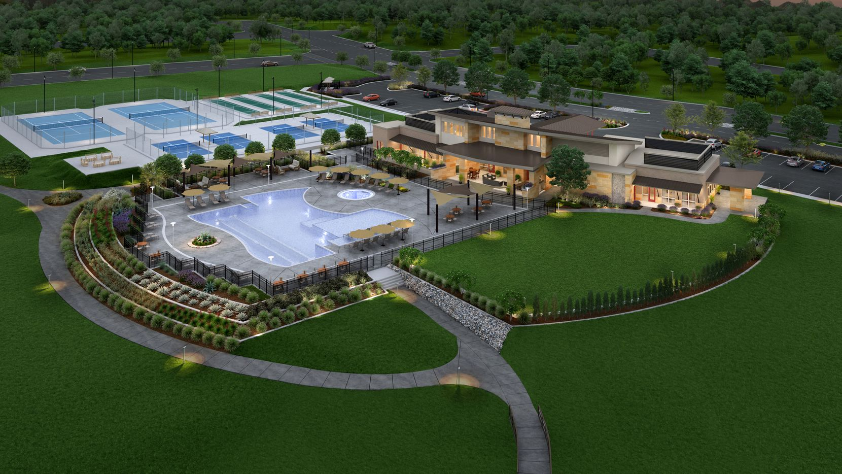 Del Webb's Trinity Falls community will have a 12-acre amenities center.