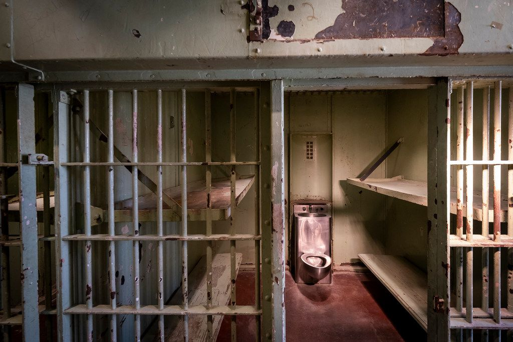 The jail cell where Lee Harvey Oswald was held is seen as guest tour the building following a ribbon-cutting ceremony for the UNT Dallas College of Law.