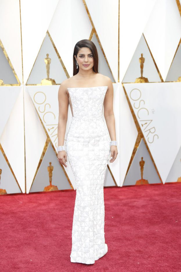 Priyanka Chopra arrives at the 89th Academy Awards on Sunday, Feb. 26, 2017, at the Dolby Theatre at Hollywood & Highland Center in Hollywood. (Jay L. Clendenin/Los Angeles Times/TNS)