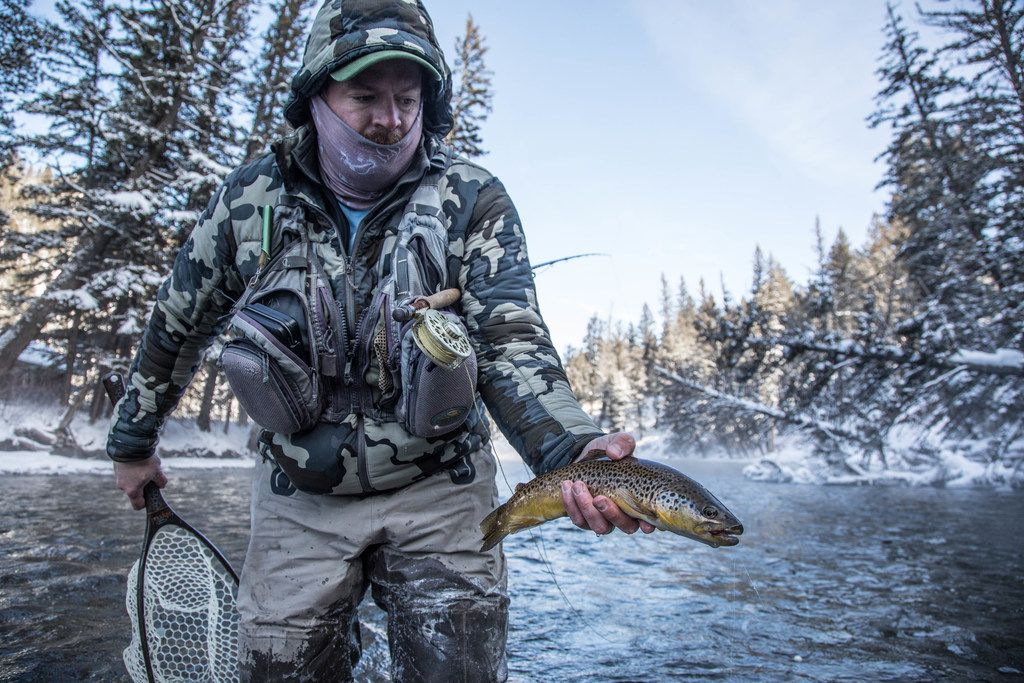 Winter fly fishing on the Gallatin River is a perennial favorite pastime.