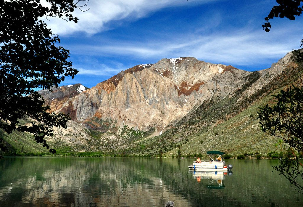 Mammoth Lakes, Calif., is surrounded by 17 lakes, many of them stocked with trout. Convict Lake takes its name from a shootout back in 1871.