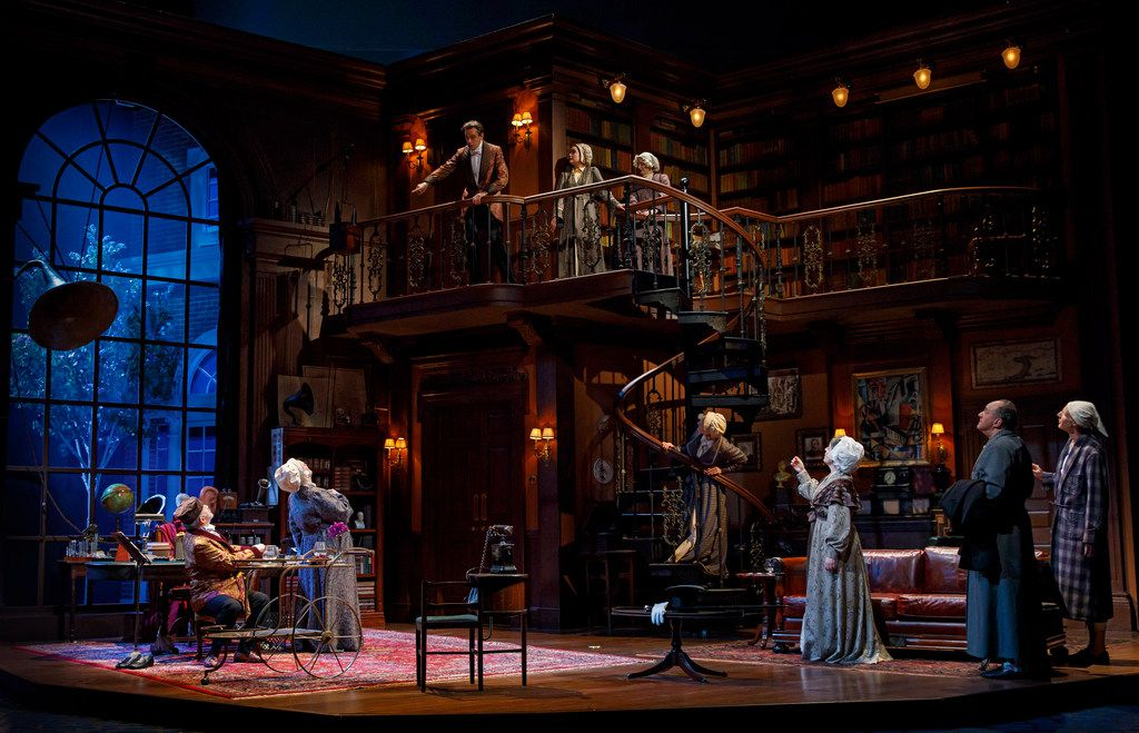 Harry Hadden-Paton stars as Professor Henry Higgins in My Fair Lady, presented by Lincoln Center Theater in New York City, with 2018 Tony Award-nominated sets by Dallas native and two-time Tony winner Michael Yeargan