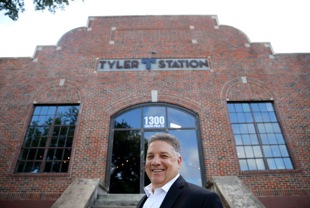 Monte Anderson poses for a portrait in front of Tyler Station in Dallas on Tuesday, June 19, 2018. Tyler Station is a mixed use space with a co-working element