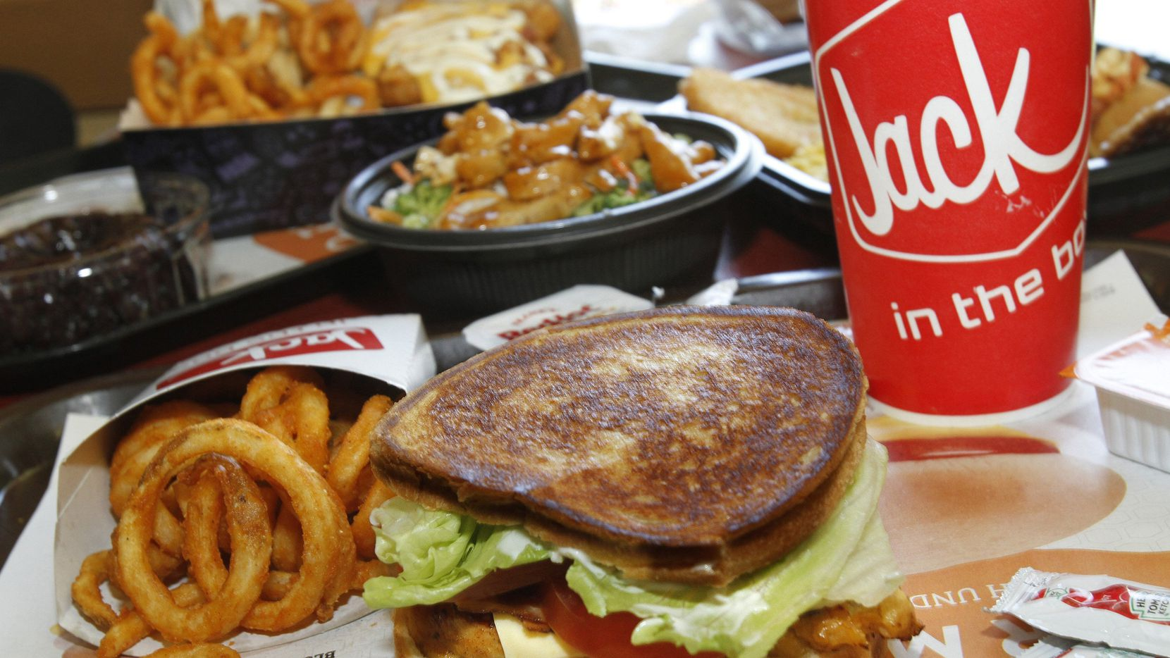 Jack in the Box sells cheap, quick and tasty food, much of it fried and heavy on fat and calories. And it's not shy about it. (Glenn Koenig/Los Angeles Times/MCT)