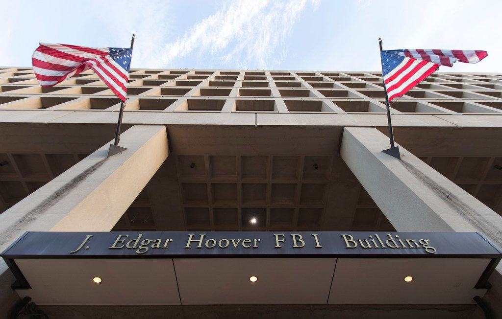 The Pennsylvania Avenue entrance of the J. Edgar Hoover Federal Bureau of Investigations (FBI) Building is seen in Washington, Thursday, Nov. 30, 2017.