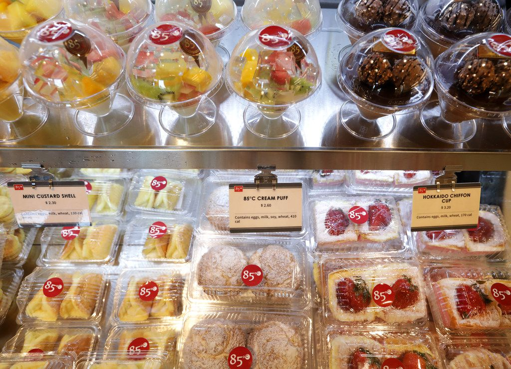 Some of the treats available at 85°C Bakery Cafe in Frisco
