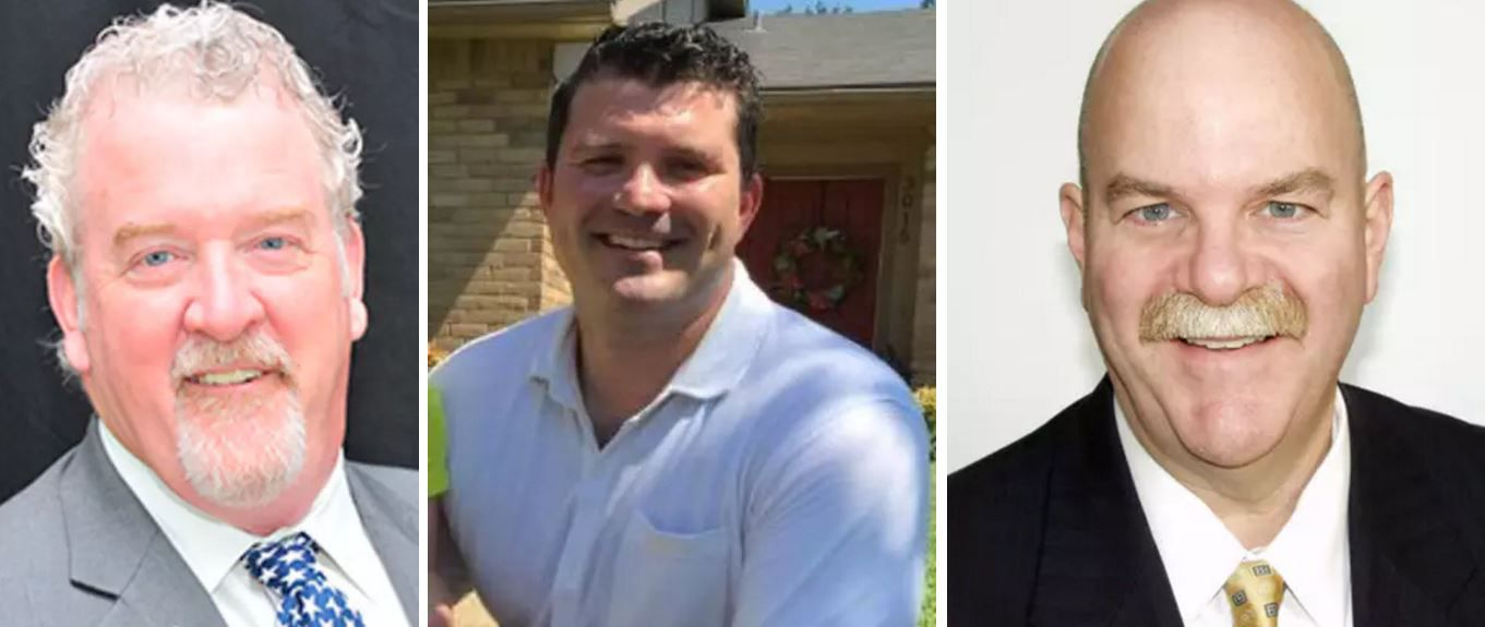 From left: Former Garland council member Stephen Stanley, Dallas attorney J.J. Koch, and former state District Judge Vickers Cunningham are running for the Republican nomination for Dallas County commissioner Precinct 2.