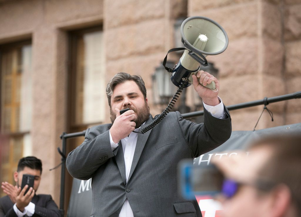 State Rep. Jonathan Stickland, R-Bedford, is a member of the 12-member conservative Freedom Caucus in the Texas Legislature. He's a provocateur who specializes in disruption to promote his views.