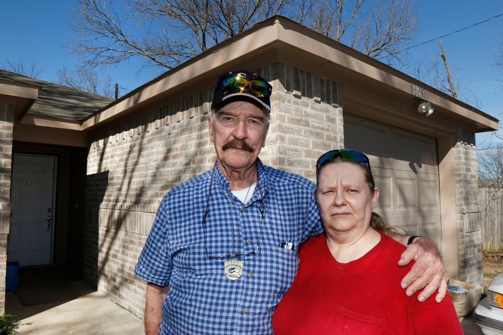 Jimmy Isbell, 75, and wife Deborah Isbell, 58, are still waiting on fixes to their house, which was built through a city program to demolish and rebuild dilapidated houses owned by people with limited incomes. They say their house is riddled with problems, including missing rain gutters.