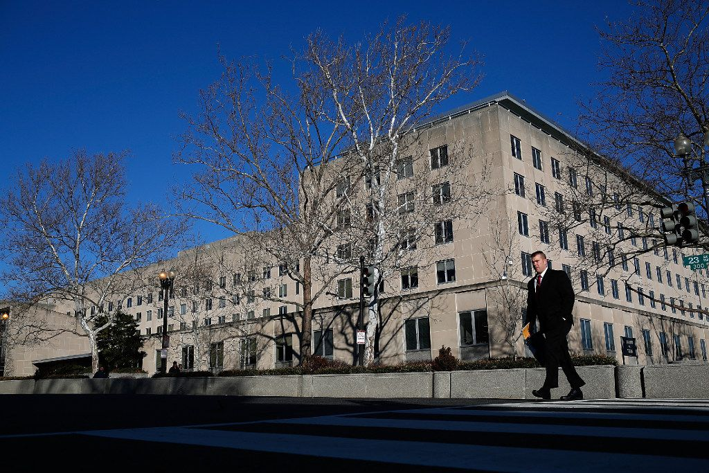 The U.S. State Department is shown January 26, 2017 in Washington, DC. (Photo by Win McNamee/Getty Images)