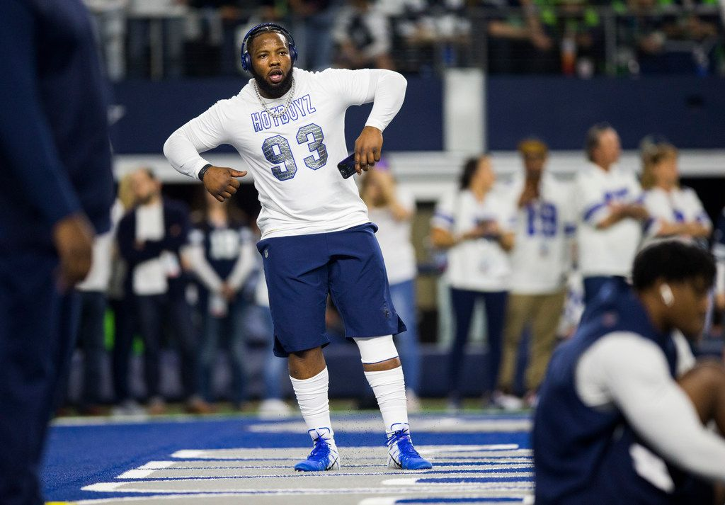 FILE - Cowboys defensive tackle Daniel Ross (93) is pictured during warmups before a wild-card playoff game against the Seattle Seahawks on Saturday, Jan. 5, 2019, at AT&T Stadium in Arlington. (Ashley Landis/The Dallas Morning News)