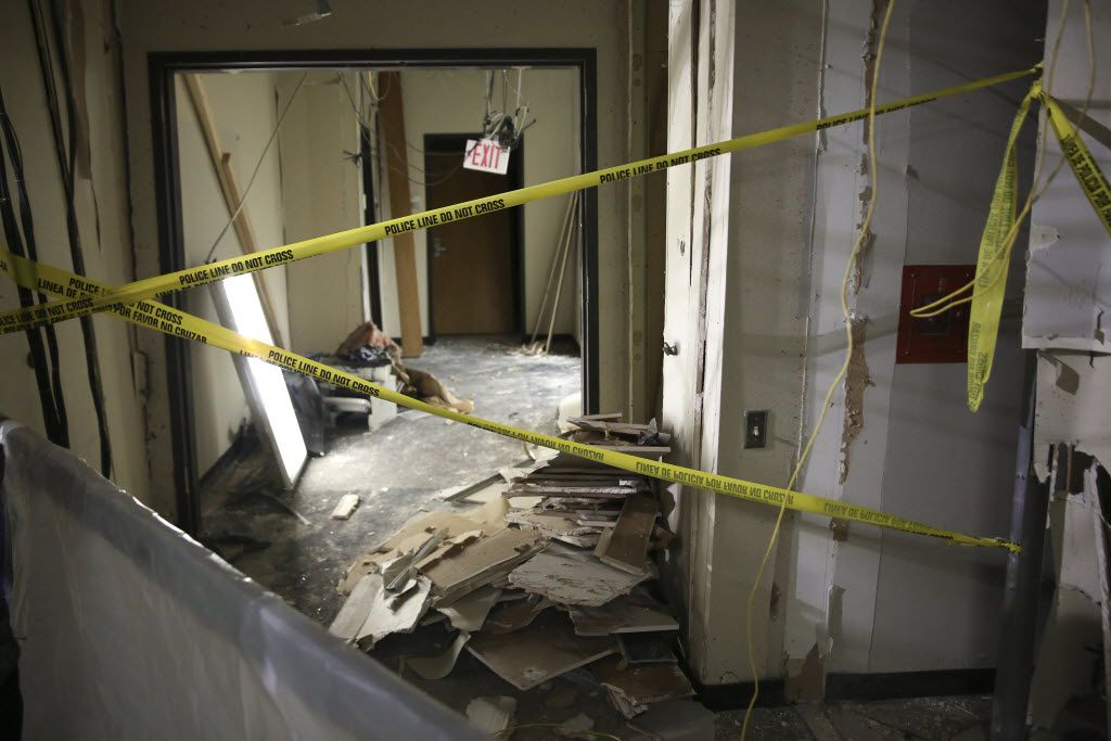 The location inside El Centro College where Micah Johnson was killed with a bomb-carrying robot. (File Photo/The New York Times)