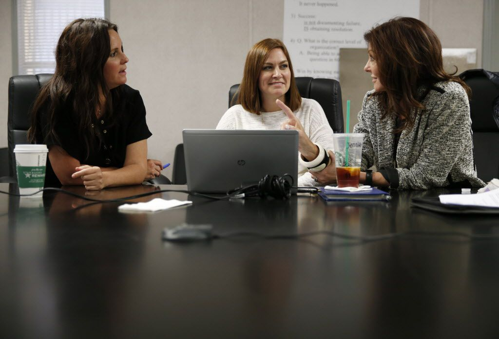 (from l to r) Stacy Bowers Director of Cowboys Club, Senior Director Jennifer Surgalski, Dallas Cowboys Corporate Partnership Services and Charlotte Jones Anderson (left) Executive Vice President and Chief Brand Officer for the Dallas Cowboys as they go over plans for the Cowboys Club at the Dallas Cowboys new headquarters at The Star in Frisco, on Tuesday, May 3, 2016. The Star a joint project with the City of Frisco is scheduled to open in August. (Vernon Bryant/The Dallas Morning News)