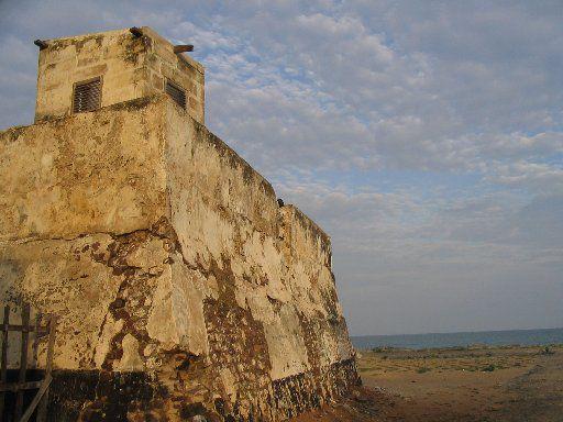 Fort Prinzenstein in Keta, Ghana, was used for slave trade.