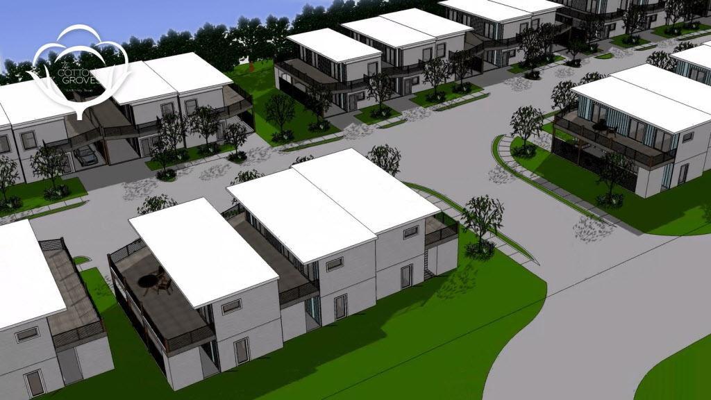 Cotton Groves es un proyecto de vivienda de Habitat for Humanity que construirá las casas en base a containers de transporte marítimo. (CORTESÍA/HABITAT FOR HUMANITY)