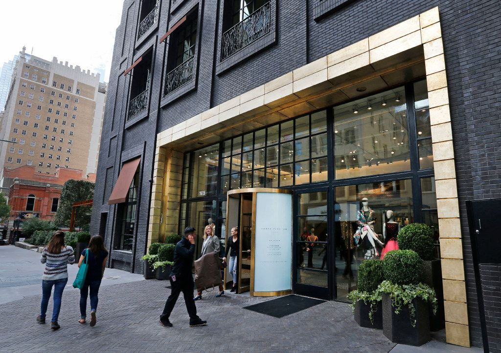 The exterior on the Elm Street side of Forty Five Ten, a new four-level store in downtown Dallas, on Nov. 11, 2016.