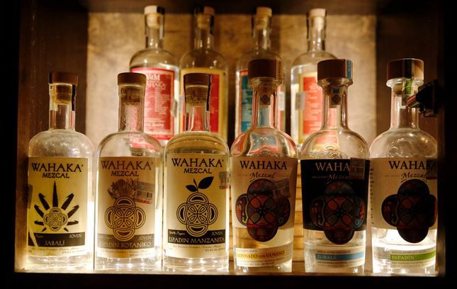 Some of Wahaka's mezcal offerings at Mexican Sugar, in Plano.
