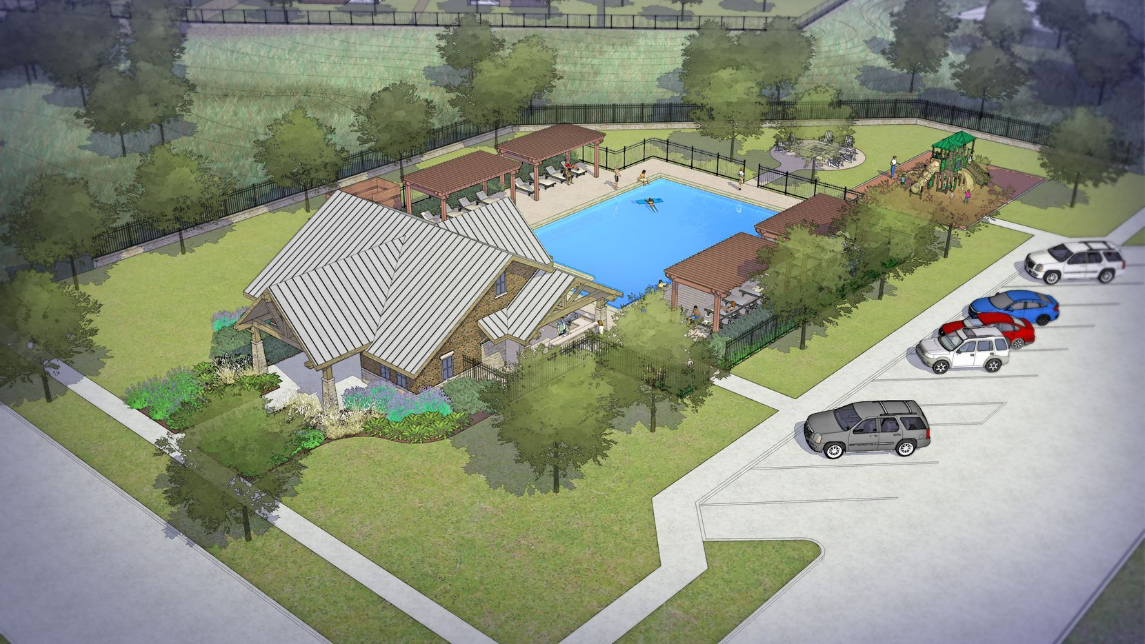 The Frisco Springs project will have an amenity center with a pool for residents.