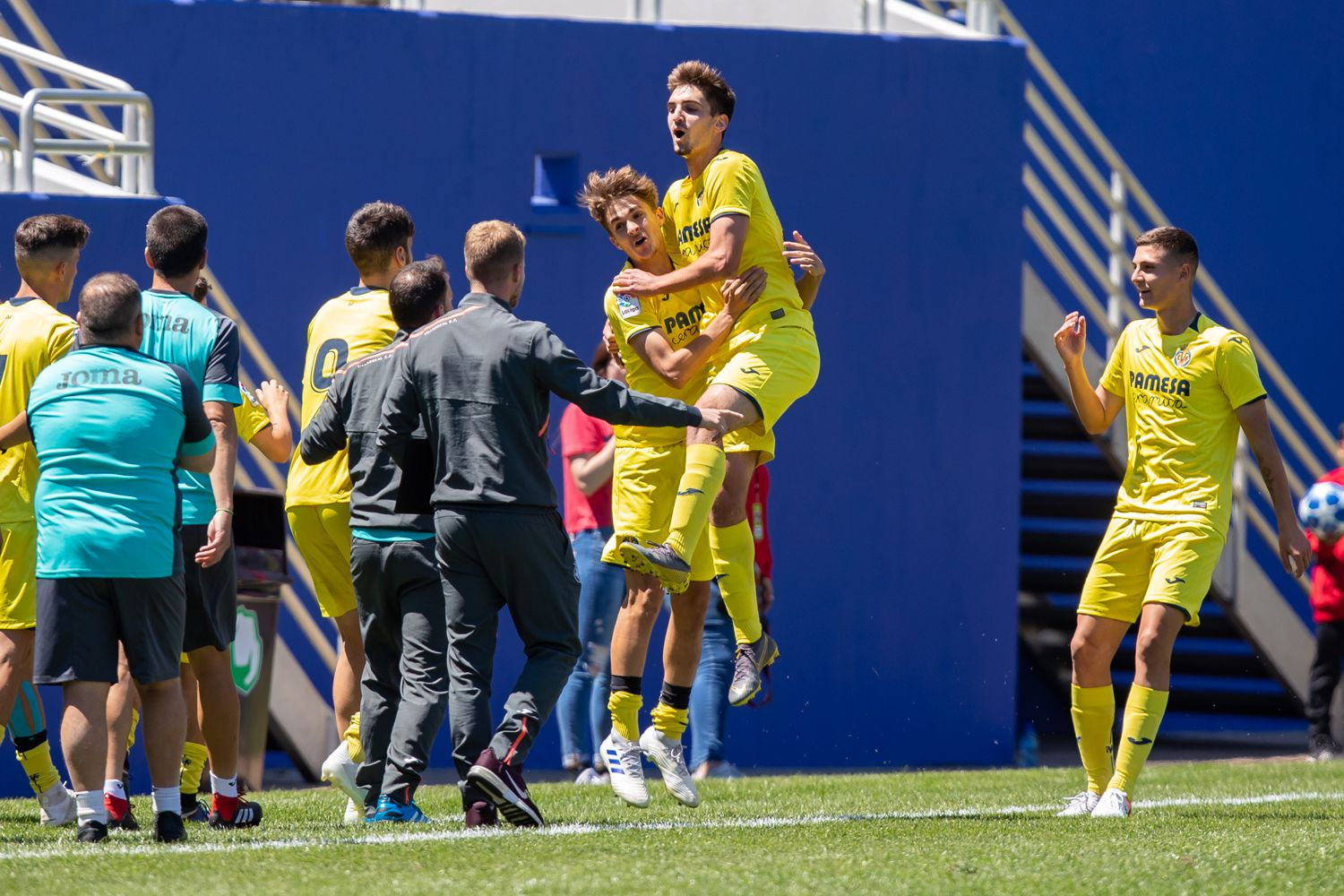 DALLAS, TX - APRIL 14: during the Dallas Cup Super Group soccer game between FC Dallas (USA) and Villareal (Spain) on April 14, 2019 at The Cotton Bowl in Dallas, Texas.  (Photo by Matthew Visinsky)