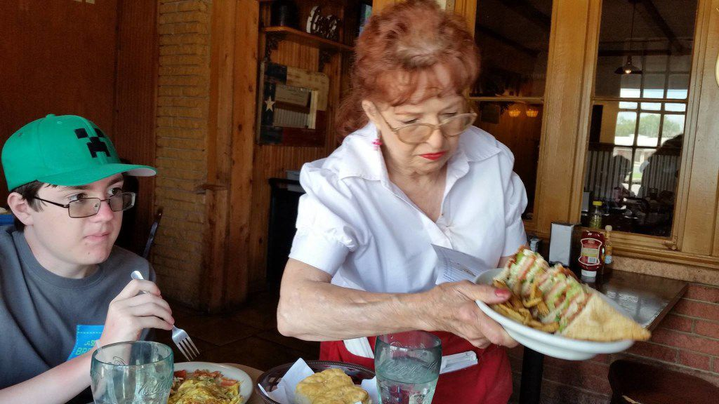 Helen Wallace, 74, has worked as a waitress at Isaack Restaurant in Junction, Texas, for most of the past 50 years. The diner opened in 1950, and she's worked for five owners since 1967.