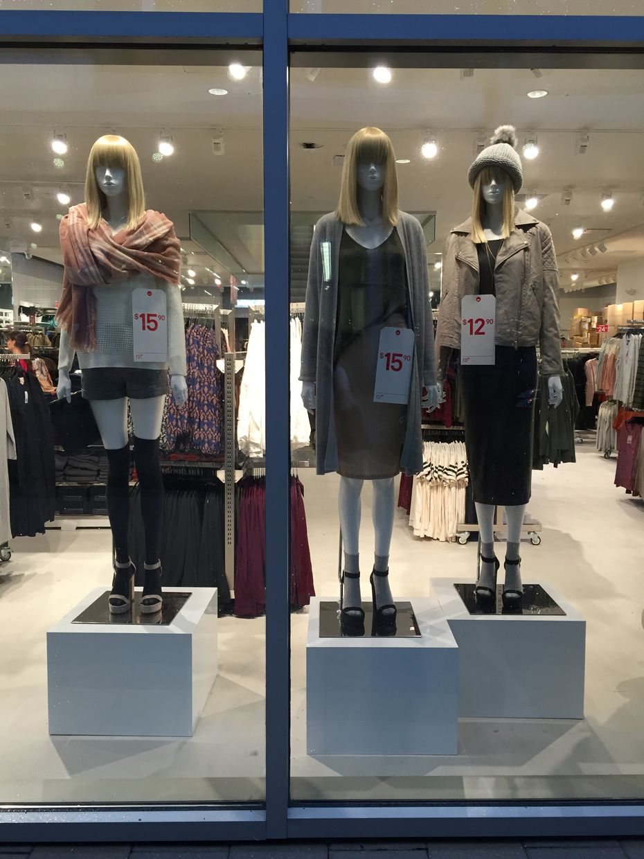 F21 Red's mission is clear, even to passersby: Prices are low, low, low.