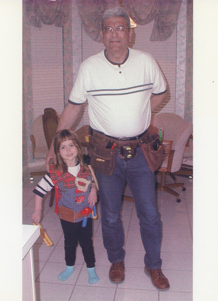 Haley Samsel as a child with her grandfather Albert Fierro