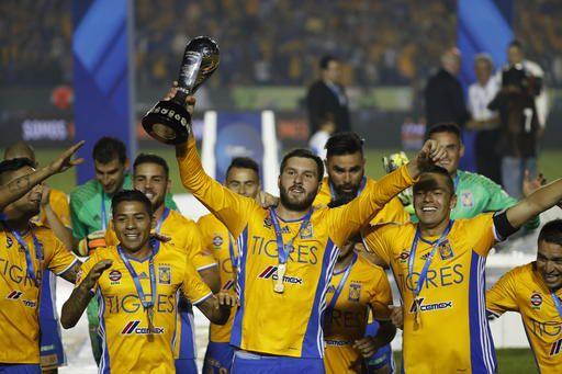 Tigres ganaron su quinto título en el futbol mexicano. Foto AP