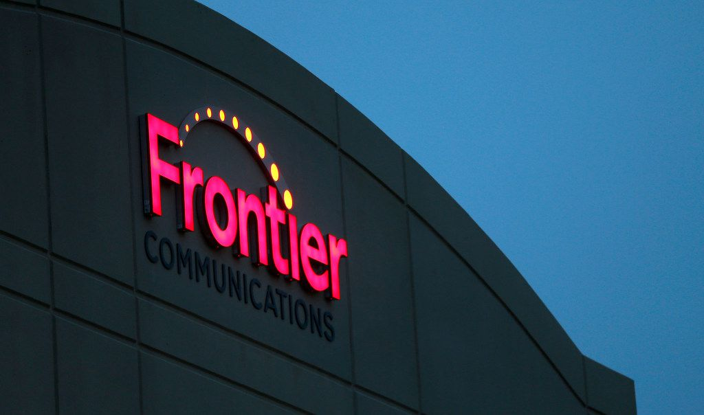 A Frontier Communications is seen on the building at 805 Central Expressway South in Allenon Nov. 7, 2016.