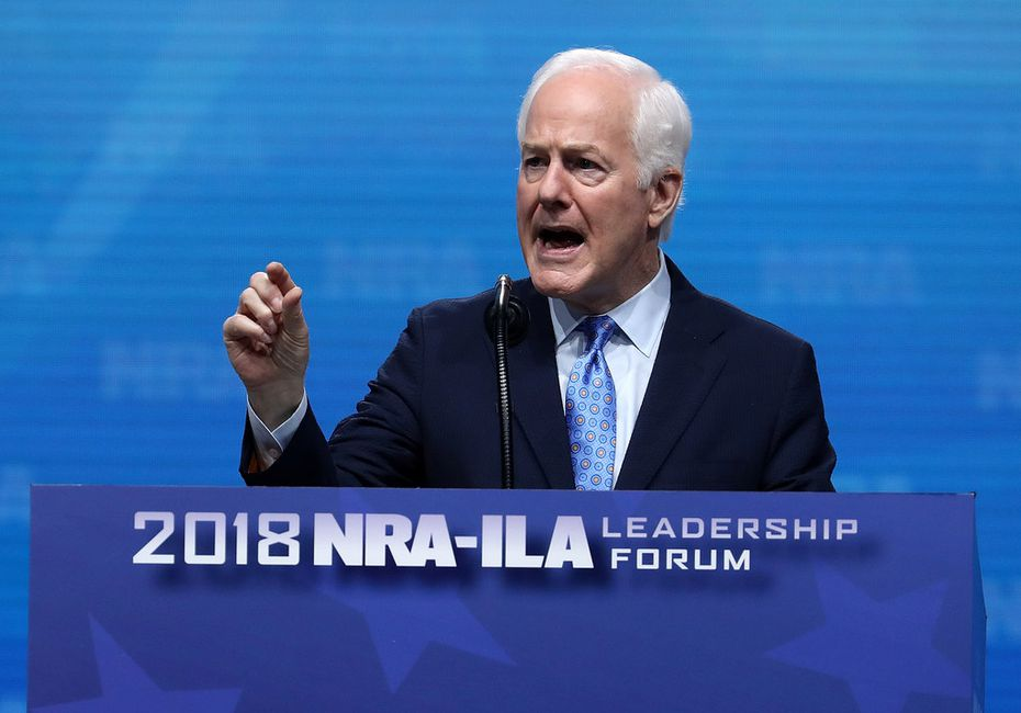 Sen. John Cornyn (R-TX) speaks at the NRA-ILA Leadership Forum during the NRA Annual Meeting & Exhibits at the Kay Bailey Hutchison Convention Center in Dallas.